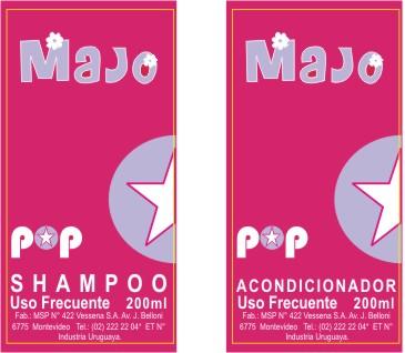 Etiqueta Shampoo y Acondicionador para niños